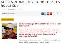 Mircea Rednic, antrenorul lui Standard Liege