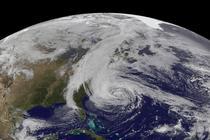Uraganul Sandy - imagine din satelit