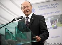 Traian Basescu, la Santierul Naval Constanta