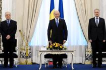 Traian Basescu, alaturi de Ion Iliescu si Emil Constantinescu