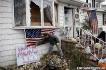 Casa lovita de uraganul Sandy