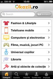 Aplicatie de iPhone pentru Okazii.ro