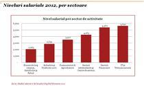 Salarii pe sectoare de activitate in 2012