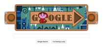 """Logo Google cu """"Scufita Rosie"""", de Fratii Grimm"""