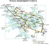 Harta transpoertului in comun din Craiova