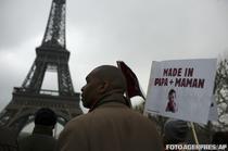 Proteste anti casatorii gay in Paris