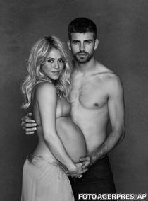 Shakira insarcinata, alaturi de Pique