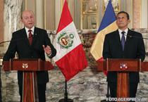 Presedintele Traian Basescu si omologul sau peruan Ollanta Moises Humala Tasso