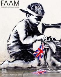 Opera lui Banksy, scoasa la licitatie