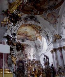 Interiorul bisericii catolice din Zwiefalten