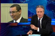 Jon Stewart si Victor Ponta