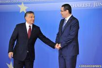 Viktor Orban si Victor Ponta, la Bucuresti, in 2012