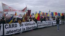 Protestul preotilor la Palatul Parlamentului