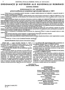 OUG nr 14 in Monitorul Oficial