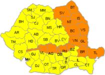 Cod portocaliu de viscol in Moldova
