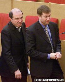 Berezovski si Roman Abramovici (ianuarie 2000)