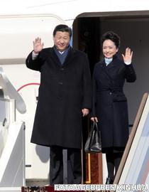 Xi si Peng, la sosirea in Moscova