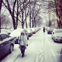 Iarna a revenit in Bucuresti