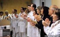 Protest al doctorilor de la Vall d'Hebron impotriva masurilor de austeritate