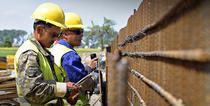 Muncitori Chinezi la o autostrada din Polonia - mic lat
