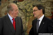 Regele Juan Carlos si Artur Mas (ianuarie 2013)