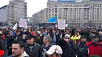 protestul sindicalistilor de la metrou in Piata Victoriei 2