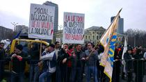 Protestul sindicalistilor de la metrou