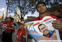 Sustinatorii lui Chavez in Caracas