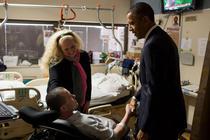 Barack Obama in vizita la plutornierul roman Florinel Enache