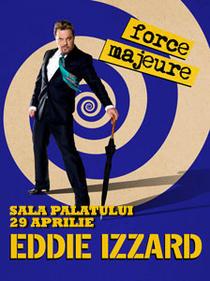 Eddie Izzard, pe 29 aprilie, la Sala Palatului