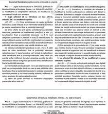 Textul integral al Ordonantei de Urgenta care modifica Legea Audiovizualului
