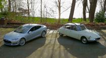 Tesla Model S si Citroen DS