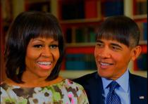 Obama, glume la adresa tunsorii lui Michelle