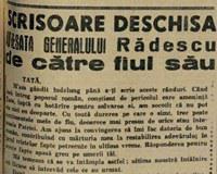 Scrisoarea fiului Generalului Radescu, 1945, Romania Libera