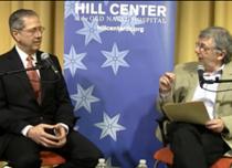 Fostul ambasador Mark Gitenstein la Hill Center impreuna cu Vladimir Tismaneanu