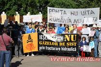 Protest anti - gaze de sist in Romania
