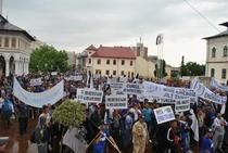 FOTOGALERIE Protest al minerilor la Targu Jiu
