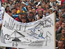 Protest la Targu Jiu