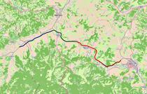 Autostrada Orastie - Sibiu (colorata pe loturi)