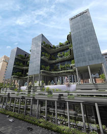 Fatada hotelului Park Royal Singapore