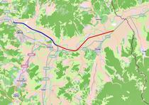 Autostrada Deva - Orastie (albastru - terminat / rosu - in lucru)