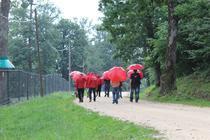 La plimbare, prin ploaie