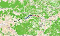 Autostrada Lugoj - Deva (lotul 4 cu rosu)