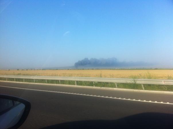Incendiu vazut de pe A3