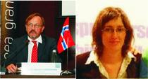 E.S. Ambasador Øystein Hovdkinn si Adriana Popescu (FDSC)