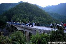Podul de pe care s-a prabusit autocarul in Muntenegru