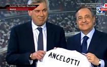 Carlo Ancelotti, prezentat oficial la Real Madrid