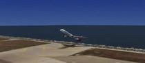 Avionul inclinat la aterizare