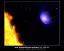 Redare artistica a planetei HD 189733b