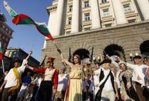 Libertatea conducand poporul, recreata la Sofia